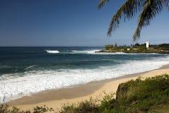 Resaca grande en la bahía de Waimea, orilla del norte de O'ahu, Hawaii Foto de archivo libre de regalías