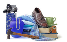 Resale3. Assorted household and personal items stock photography