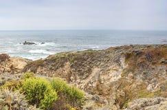 Resande begrepp och framstående ställen Fantastisk och hisnande sikt av den Stillahavs- kustlinjen Arkivbild