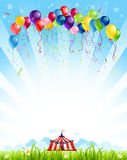 Resande cirkus vektor illustrationer
