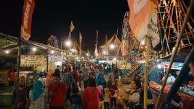 Resande karneval i Jogjakarta, Indonesien stock video