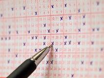 Resbalón de la lotería Imágenes de archivo libres de regalías