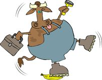 Resbalón de la vaca Imagen de archivo
