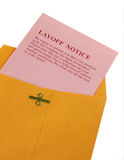 Resbalón rosado Fotografía de archivo libre de regalías