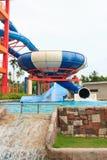 Resbaladores de Aquapark Fotos de archivo libres de regalías