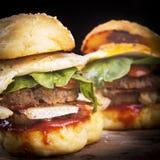 Resbaladores de la hamburguesa Fotos de archivo libres de regalías