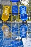 Resbaladores de la piscina. Imagen de archivo libre de regalías