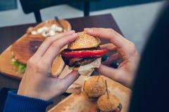 Resbaladores de las hamburguesas Fotografía de archivo libre de regalías