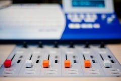 Resbaladores del mezclador Foto de archivo