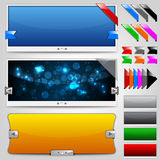 Resbaladores y cintas del Web Fotografía de archivo