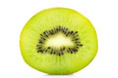 Resbale el aislante de la fruta de kiwi en blanco foto de archivo libre de regalías