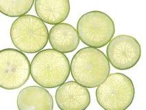 Resbale el limón en fondo del blanco del aislante Imagenes de archivo