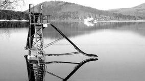 Resbale en el espejo del agua Imagen de archivo libre de regalías