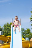 Resbale en la piscina Foto de archivo