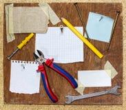 Resbalones del papel Imágenes de archivo libres de regalías