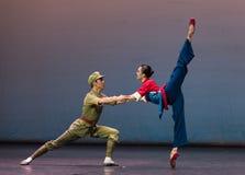 Rescate cada sensación de Yimeng del otro-ballet Imagenes de archivo