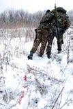 Rescate de dañado de soldado Foto de archivo libre de regalías