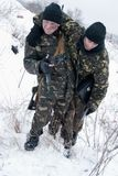 Rescate de dañado de soldado Fotografía de archivo