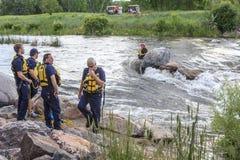 Rescate del agua en el río foto de archivo libre de regalías