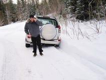 Rescate del coche Imágenes de archivo libres de regalías