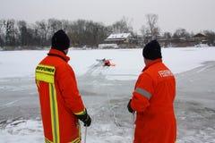 Rescate del hielo Fotografía de archivo