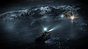 Rescate del mar de tormenta Foto de archivo libre de regalías