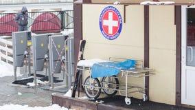 Rescate el servicio médico en las montañas en Sochi Imágenes de archivo libres de regalías
