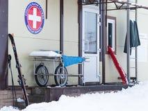 Rescate el servicio médico en las montañas, Sochi Fotografía de archivo