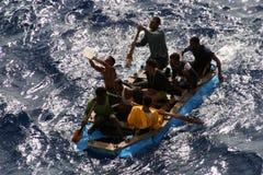Rescate en el mar Imagenes de archivo