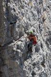 Rescate en la montaña de dolomías, Italia Fotografía de archivo