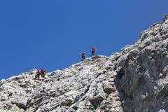 Rescate en la montaña de dolomías, Italia Fotografía de archivo libre de regalías