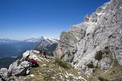 Rescate en la montaña de dolomías, Italia Fotos de archivo libres de regalías