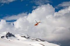 Rescate por helicóptero Fotos de archivo libres de regalías