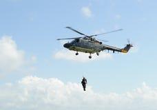 Rescate por helicóptero Fotos de archivo