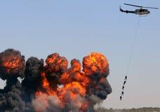 Rescate por helicóptero fotografía de archivo libre de regalías