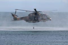Rescate por helicóptero del puma Imagenes de archivo
