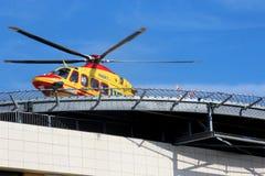 Rescate por helicóptero Pegaso del italiano 118 Imagen de archivo libre de regalías
