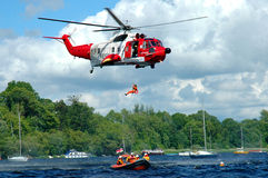 Rescate por helicóptero Imagenes de archivo