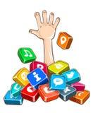 Rescate que se hunde en el apego social de Internet de las redes libre illustration