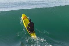 Rescate Ski Craft Waves Surfing de la salvación fotografía de archivo libre de regalías