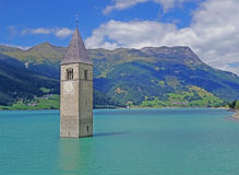 Reschensee Royalty Free Stock Photography