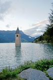 The Reschensee in the evening Royalty Free Stock Image