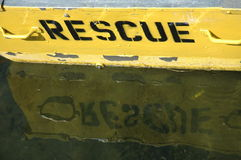 Rescue. A rescue row-boat Stock Images