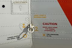 Rescue aircraft warnings Royalty Free Stock Photo