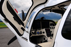 Rescue airplane - cockpit Royalty Free Stock Photos