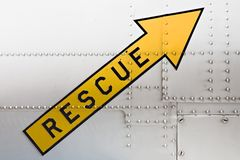 Rescue arrow Royalty Free Stock Photos
