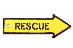 Rescue arrrow Stock Images