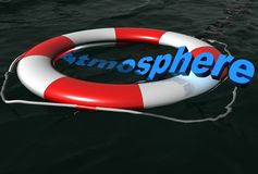 Rescue atmosphere on water Stock Image