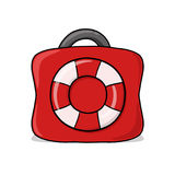 Rescue Bag Illustration Stock Images