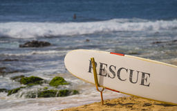 Rescue Board - Sandy's Beach Oahu, Hawaii Royalty Free Stock Image